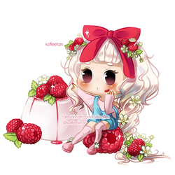 Raspberry Pana cotta