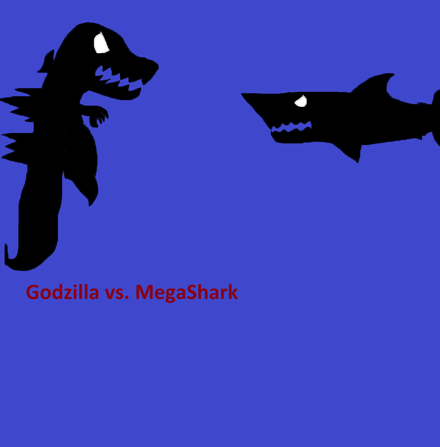Godzilla VS MEGA SHARK by kagefan-121 on DeviantArt