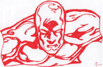 The Silver Surfer In Red