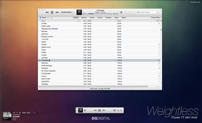 Weightless - iTunes 11 Interface Mod for Mac OSX