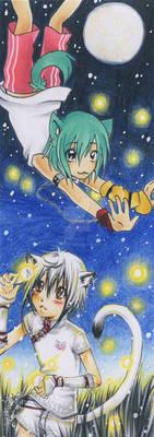 Fireflies in the skies