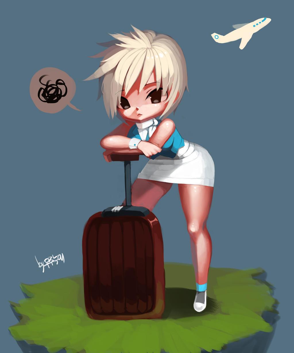 LOL - riven , stewardess by chrier