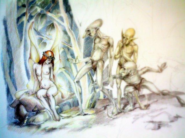 the sad fairy by aryundomiel