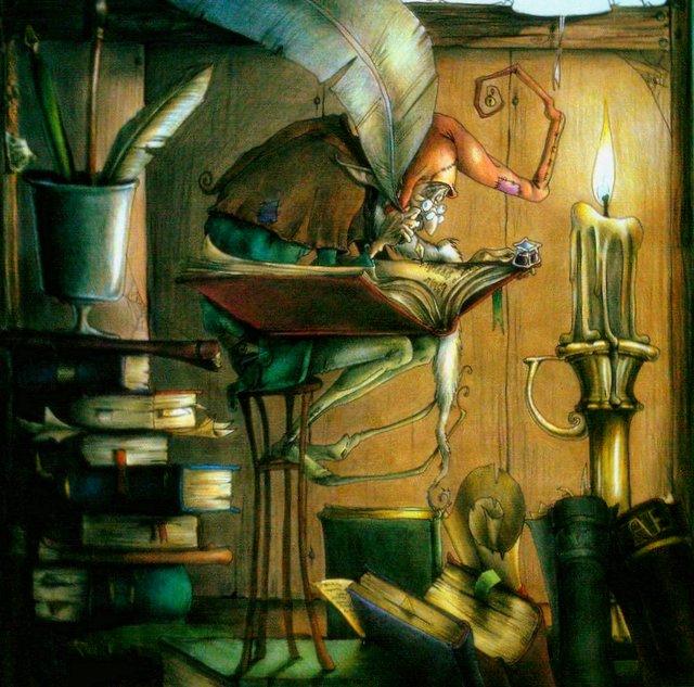 an old book fairy by aryundomiel
