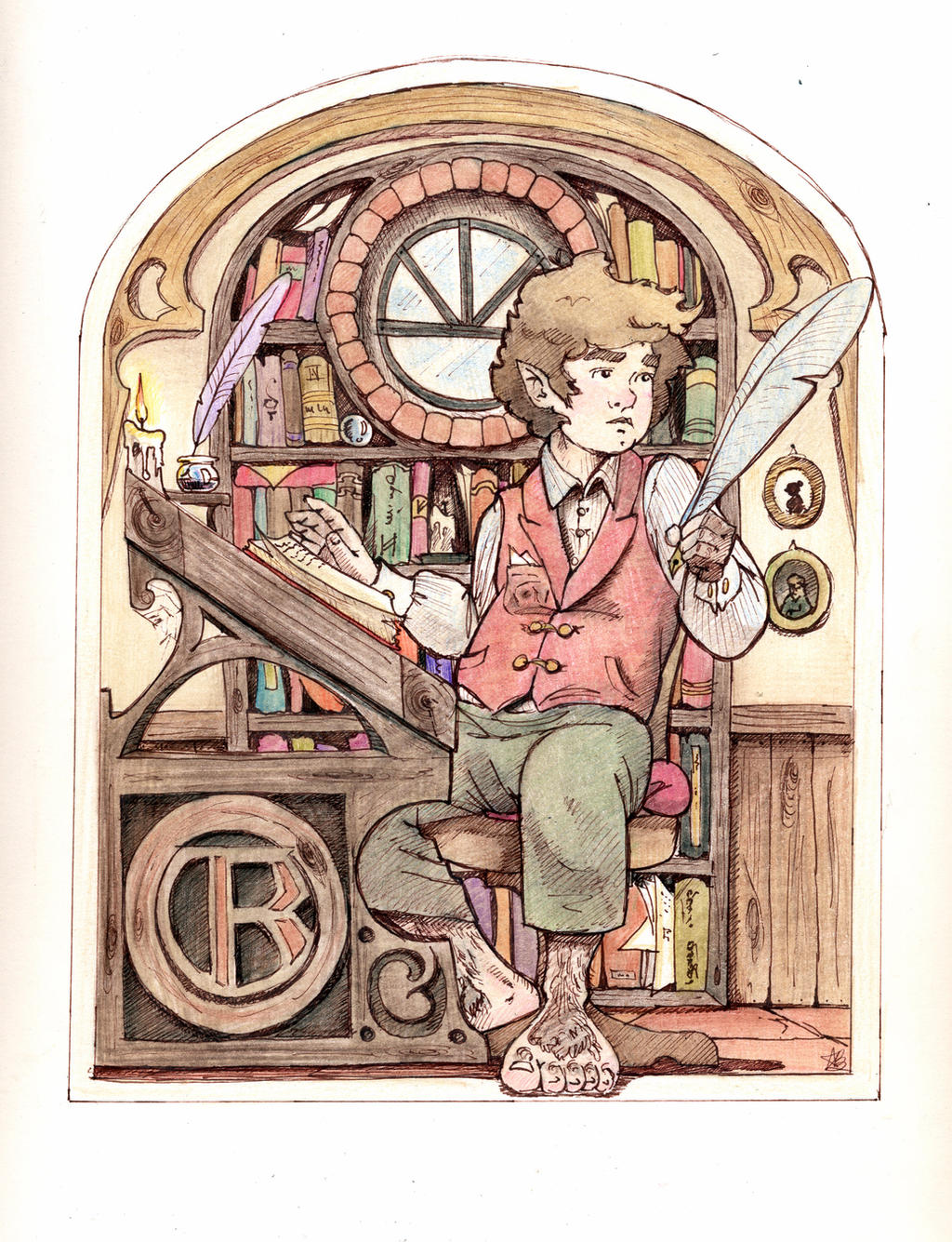 Collecting memories, Bilbo by aryundomiel