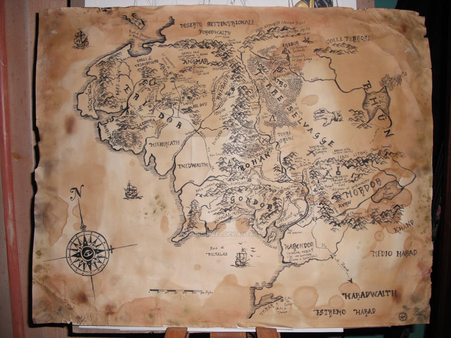 commission- Middle Earth map by aryundomiel on DeviantArt