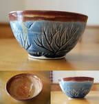 Blue Tree Themed Ceramic Bowl (small)