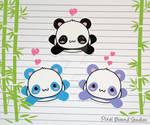 Chibi Panda Stickers