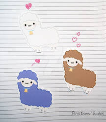 Chibi Lamb Stickers and Magnets by pixelboundstudios