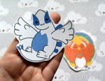 Lugia/Ho-Oh Stickers and Magnets