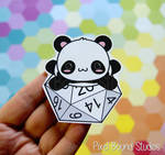 Chibi Panda on d20 Stickers and Magnets