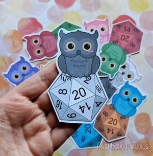 Chibi Horned Owl D20