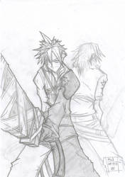 Cloud y Leon from KH2 by quatro