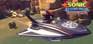 Shadow In Sonic All Stars Racing Tranform by xXShadowHedgehogXx