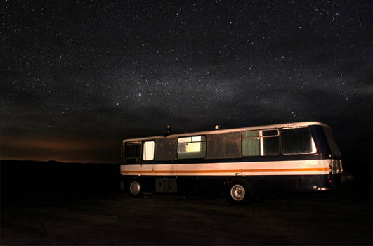 Night time bus