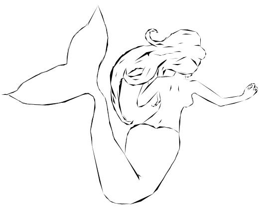 Line Drawing Mermaid : Line art mermaid by littlexpixi on deviantart