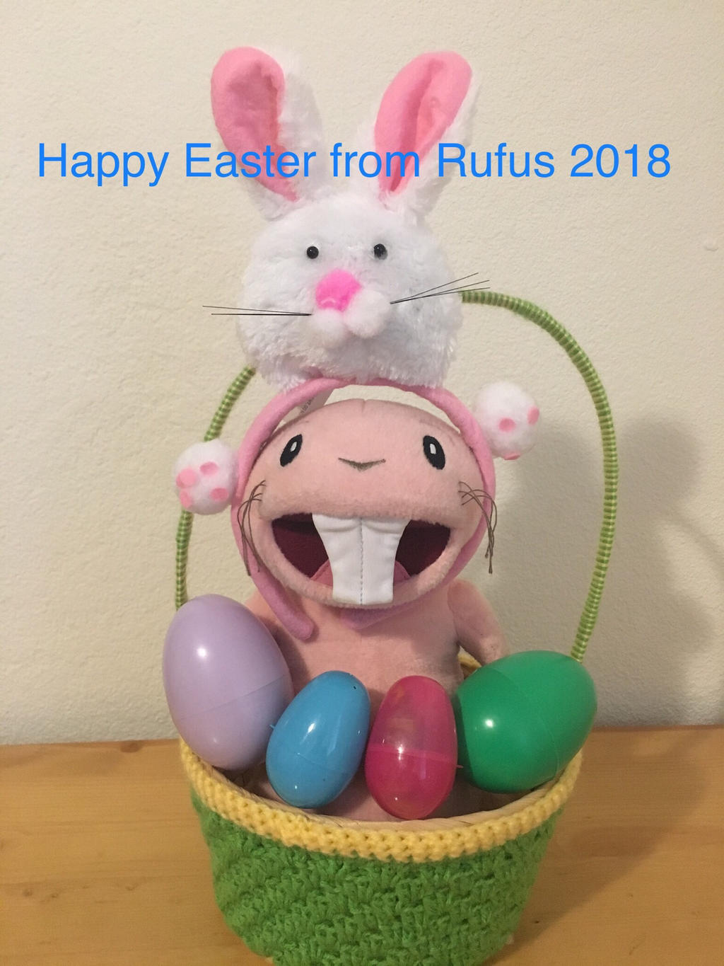 Happy Easter from Rufus of Kim possible 2018 by montrain101
