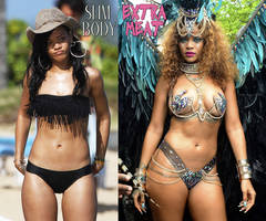 Rihanna | Which of her two bodies do you prefer?