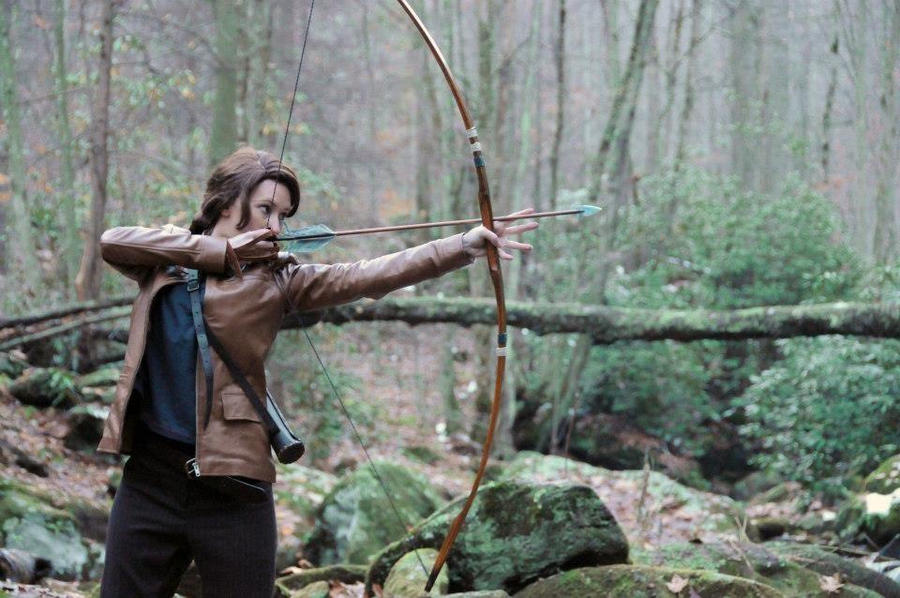 katniss hunting by lady skywalker on  katniss hunting by lady skywalker
