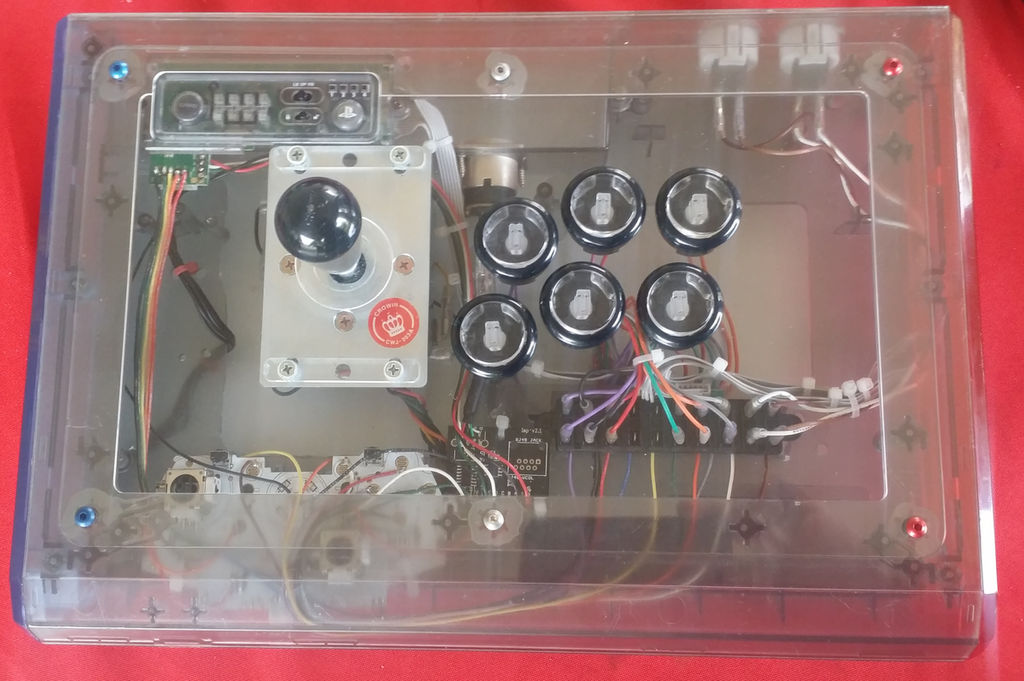 Arcade Stick Finished - Clear Panel - Madcatz TE