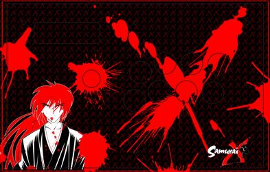 Arcade Stick Art - Kenshin Himura - Madcatz TE by FrankCastleAZ