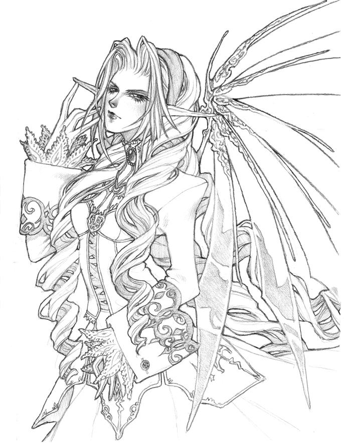 - Gothic Fairy - for KrazyKut by emilywarrenart on DeviantArt