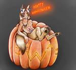 Werewolf in a Pumpkin by Jamiragon