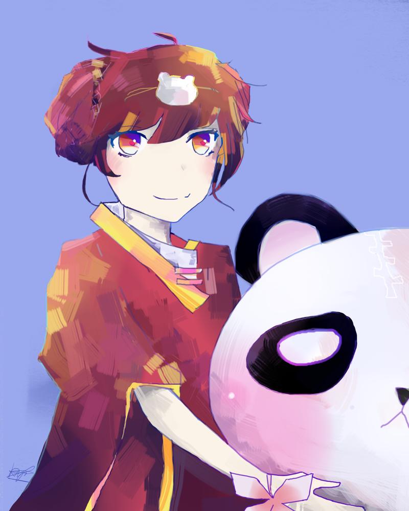 Panda Annie :3 by Kyorukki