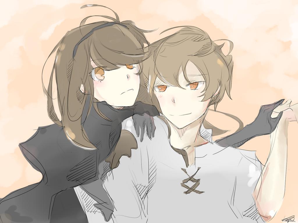 Agnes and Tiz by Kyorukki