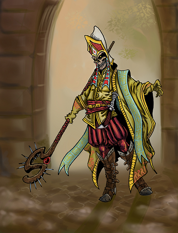 Undead Dark Lord by koyotenahual