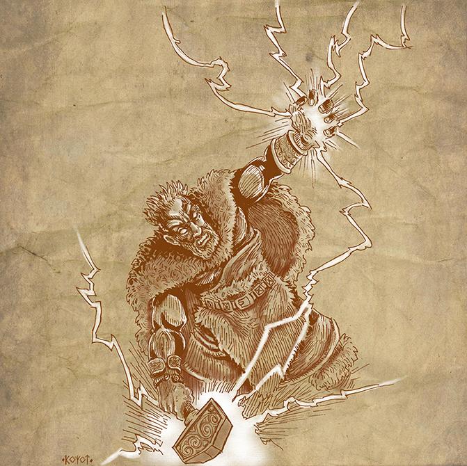 Thor, the Thunderer by koyotenahual