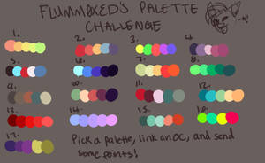 Palette challenge commissions! 2/3 by panic-god