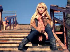 sitting on stairs by Leta-Ushakova