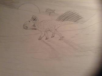 Protoceratops by leptoceratops