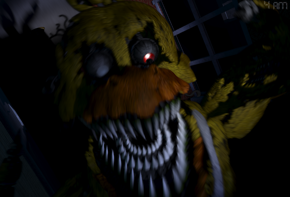 Nightmare chica jumpscare by buttons the bunny on deviantart