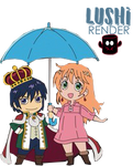 Nike and Livius  - Chibi by Lushi08