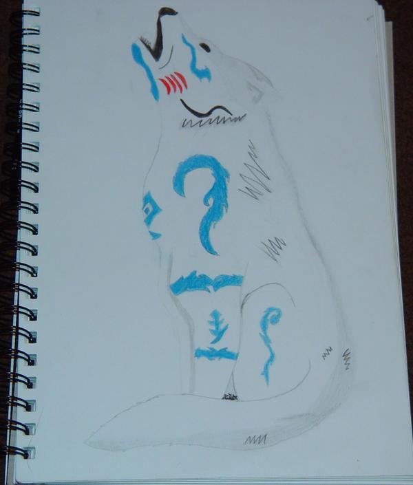 Tribal wolf Tattoo design by ~XxsilentwolfxX on deviantART