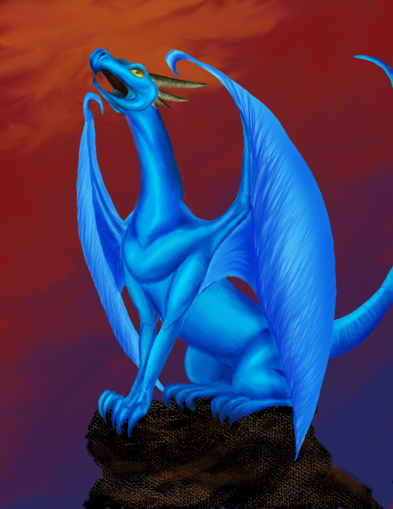 Blue Dragon by pickledshoe