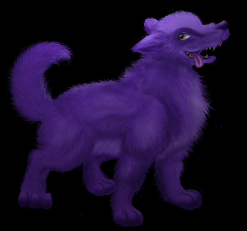 Purple wolf by pickledshoe