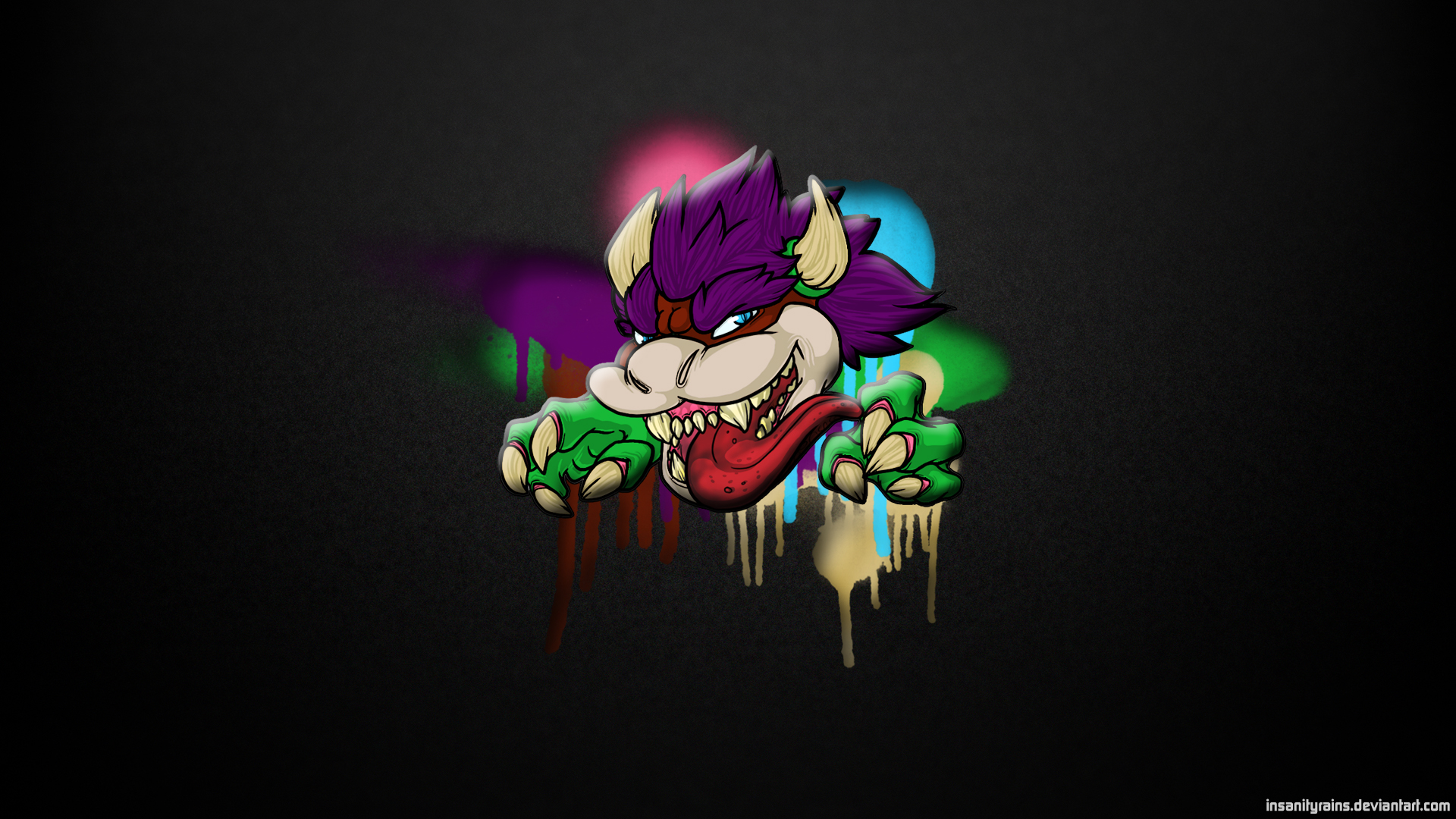 bowser remix wallpaper 1920x1080 by insanityrains on