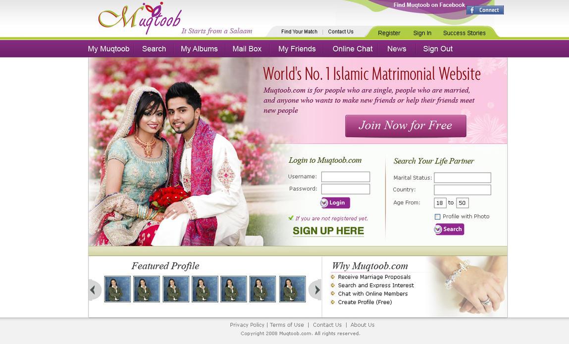 Matrimonial Template By Sairaafzal On DeviantArt - Matrimonial website templates