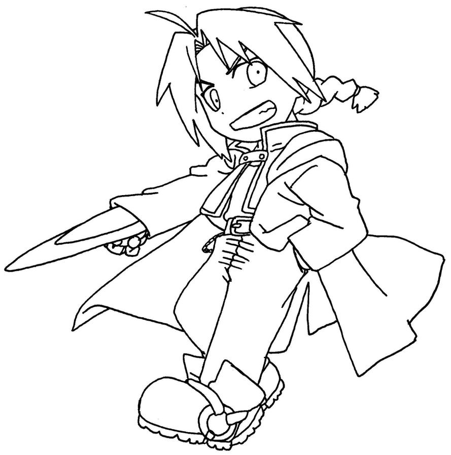 free fullmetal alchemist coloring pages - photo#35