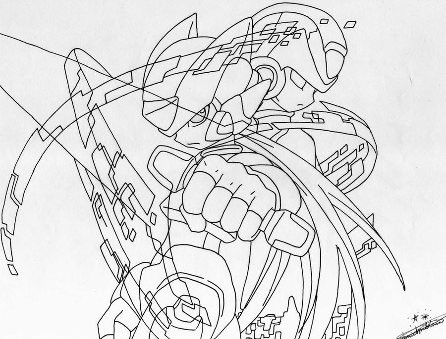 Line Art Zero : Gallery for gt zero megaman drawings