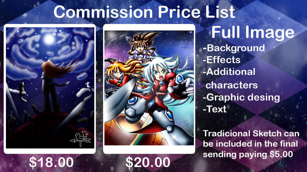 Commission Price List full image by kailali