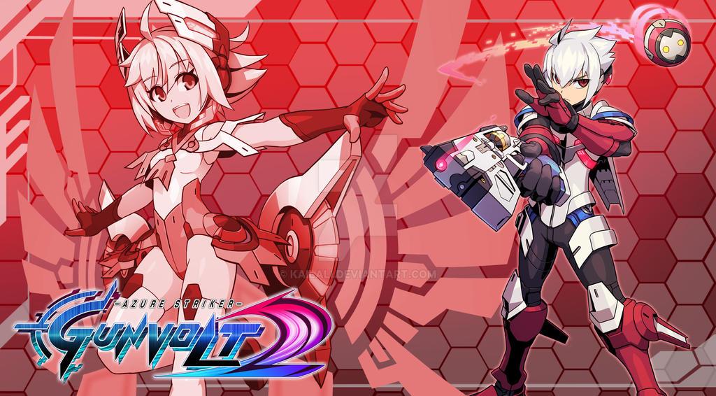 Azure Striker Gunvolt 2- Red by kailali