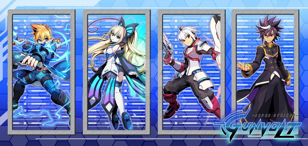 Azure Striker Gunvolt Banner Re-Done by kailali