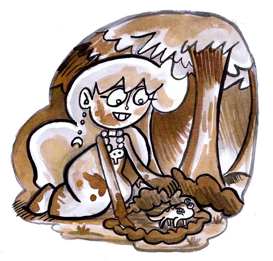 Luna Lesser, lizard looking by trivialtales