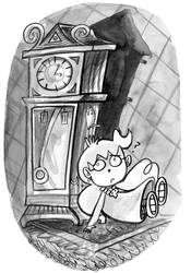 Inktober 14: Clock by trivialtales