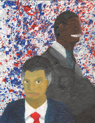 Obama and Romney by NathanBotsford