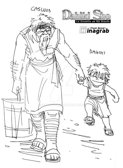 Dahiki and his adoptive grandpa by Zazawa